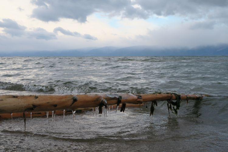 Baikalsee Eiszapfen