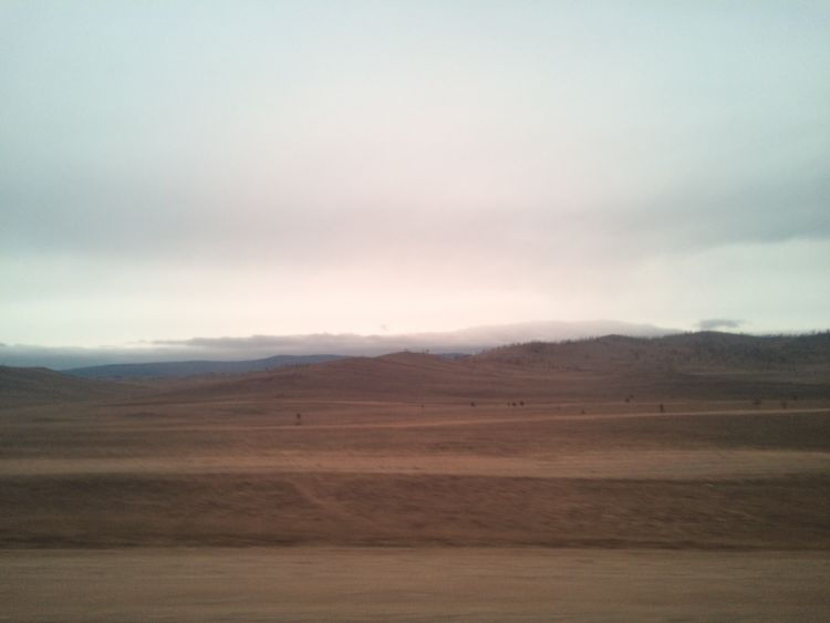 Fahrt durch die Taiga