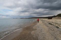 Strandspaziergang mit Banja