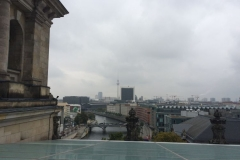 Bundestag / Reichstag Blick von der Dachterasse Richtung Alexanderplatz und Spree