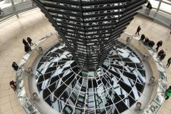 Bundestag - Reichstag in der Glaskuppe