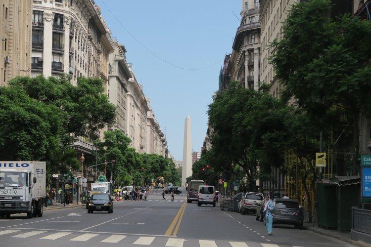 Blick zum Obelisk