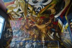 Mexikanische Schule - Wandmalerei Chile
