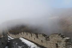 Chineische Mauer im Nebel-2