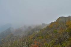 Chinesische Mauer im Nebel