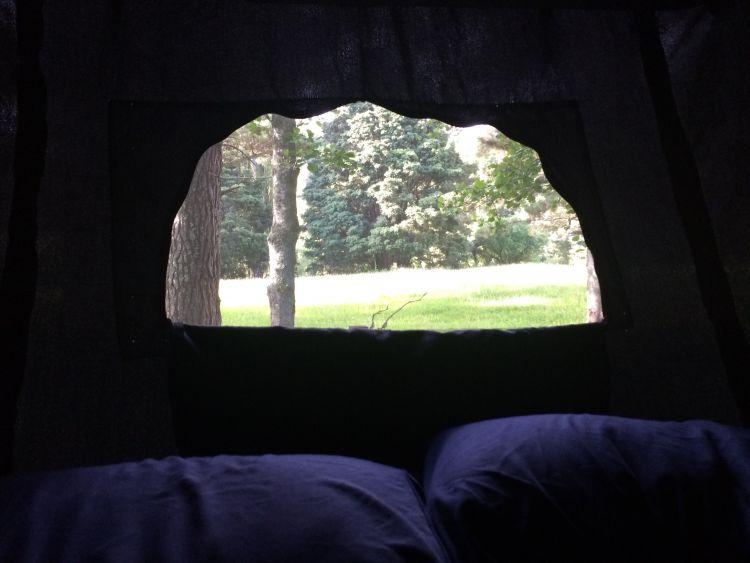 Blick aus unserem Camper