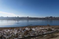 Angara Blick zum Bahnhof Irkutsk Pass