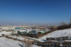 Blick über eine Teil von Irkutsk