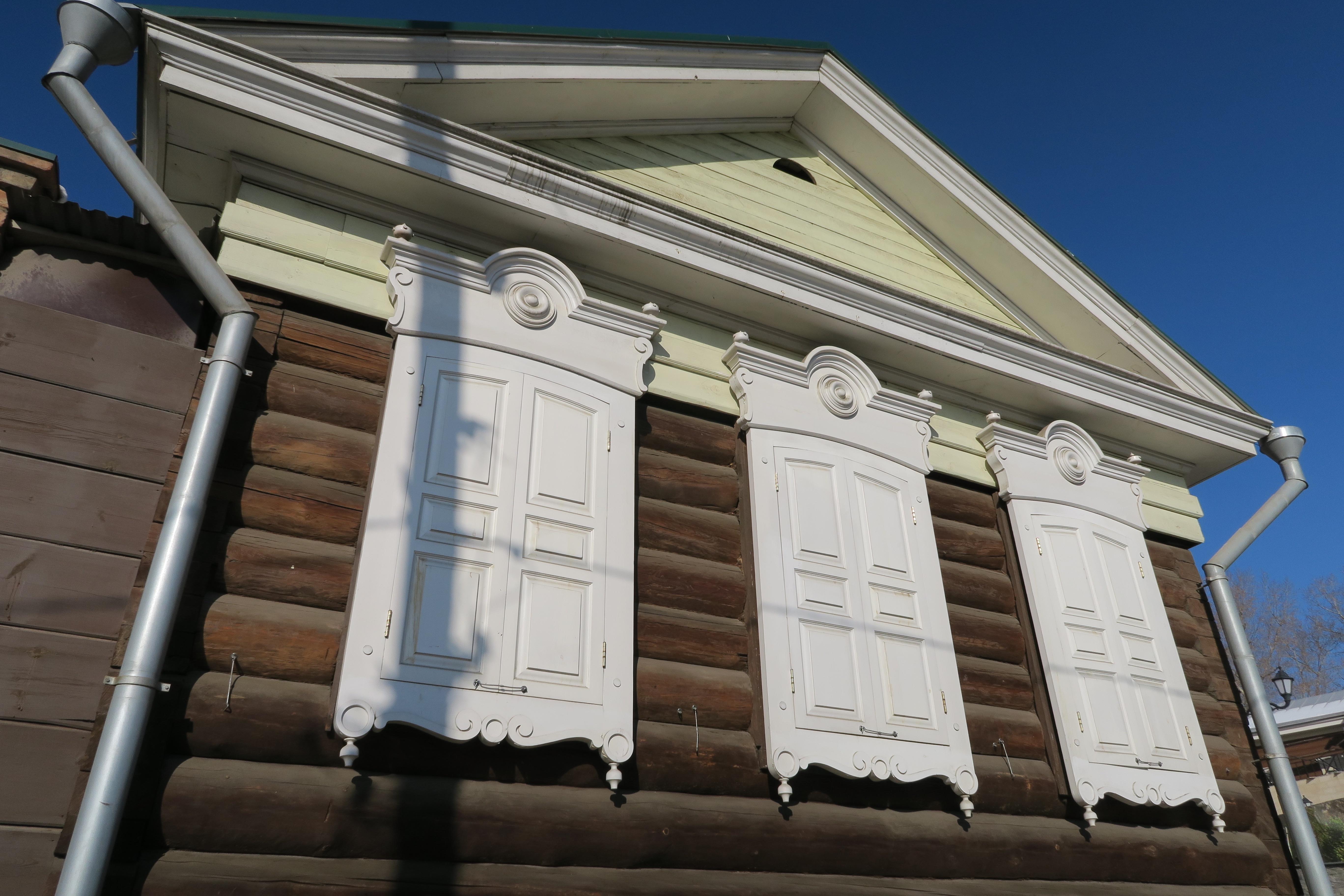 Restauriertes Holzhaus
