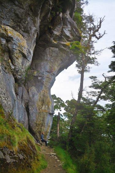Limestone-Bluffs-Überhang