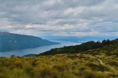 Blick auf den Lake Te Anau von der Luxmore Hut