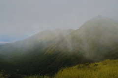 Blick vom Forst Burn Shelter - Regenschauer