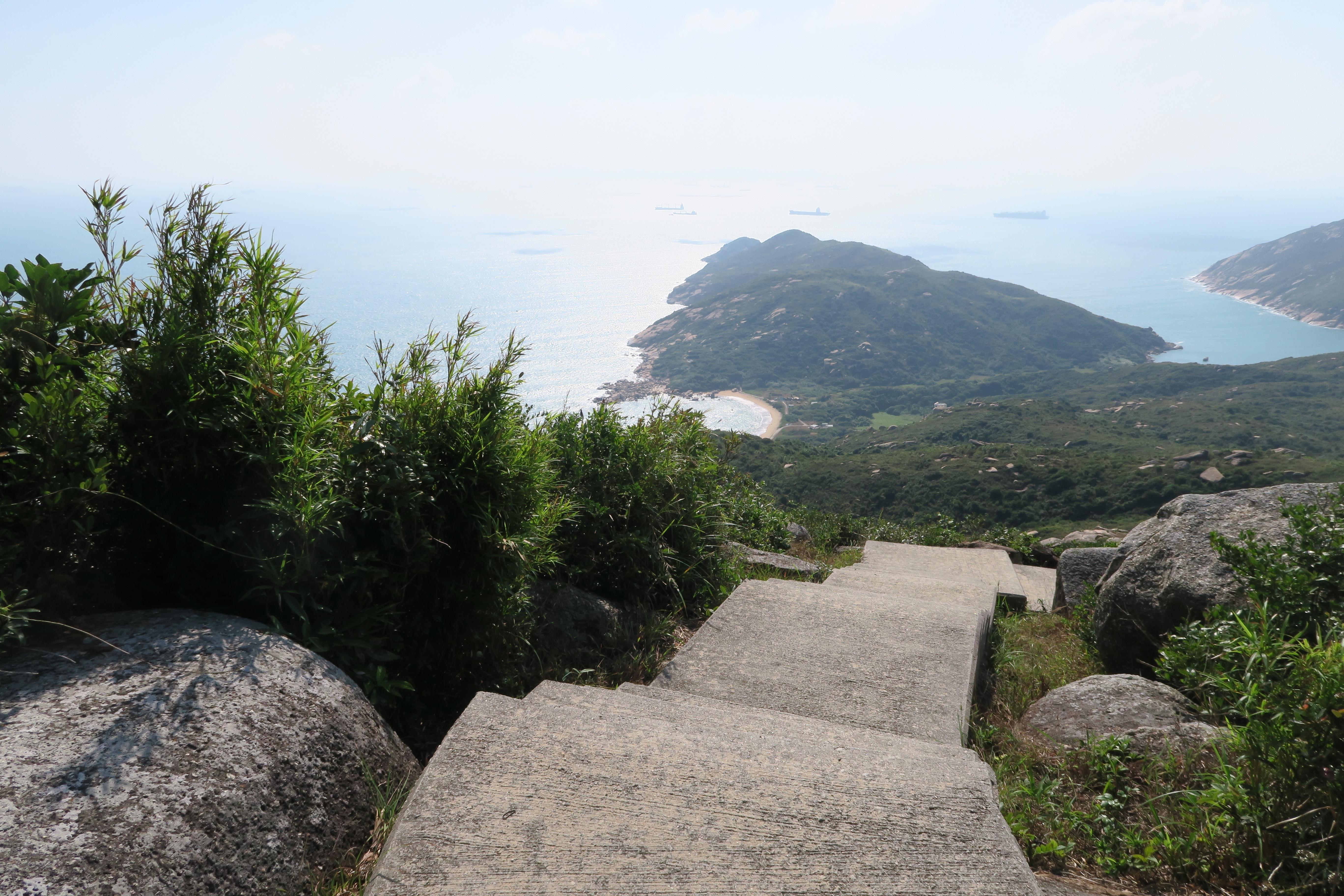 Ling Kok Shan - Abstieg