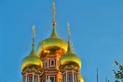 Goldene Kirchenspitzen