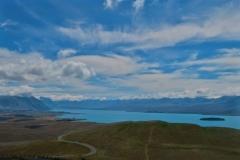 Mount John - Ausblick in die Berge