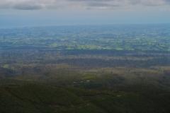 Abstieg - Blick von der Tahurangi Lodge Richtung New Plymouth
