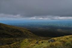 Abstieg - unter der Wolkendecken