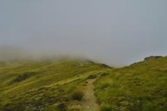 Robert Ridge Route - durch die Wolken
