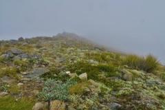Robert Ridge Route- in den Wolken