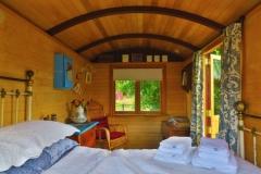 Airbnb Shepherds Hut Glamping - Wagen innen