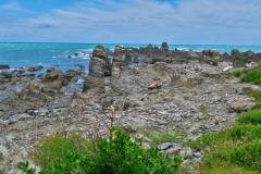 Papatea Bay - Lava Schichten