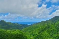 Cross-Island Track - The Needle -Blick Richtung Avarua