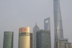 Skyline Pudong vom Huangpu Jiang