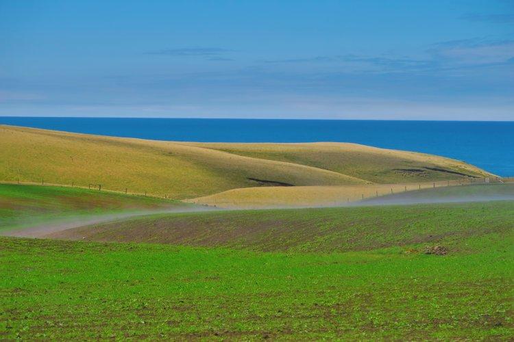 Slope Point - dampfende Felder