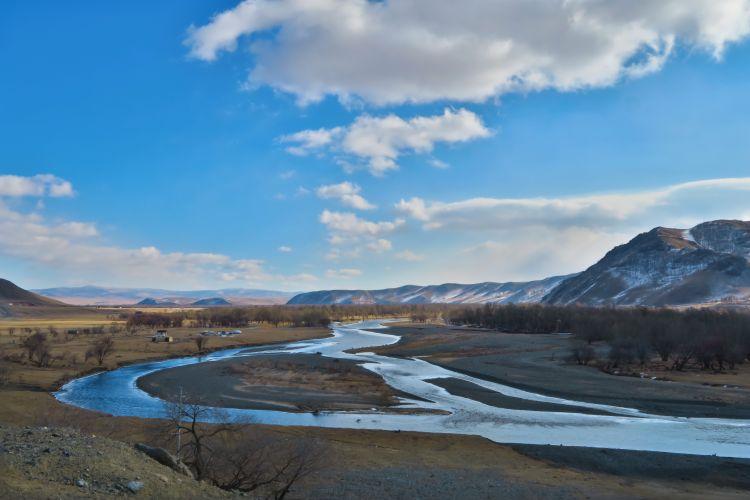 Fluss an der Grenze vom Terelj Nationalpark