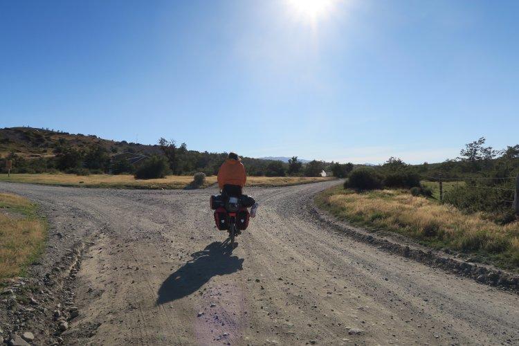 Radfahrer im Torres Del Paine