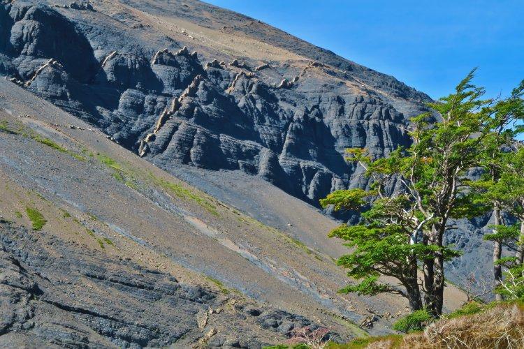 Weg vom Torres Del Paine zum Chileno Camp