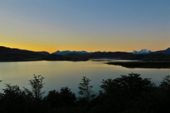 Blick von Domos Frances auf den See