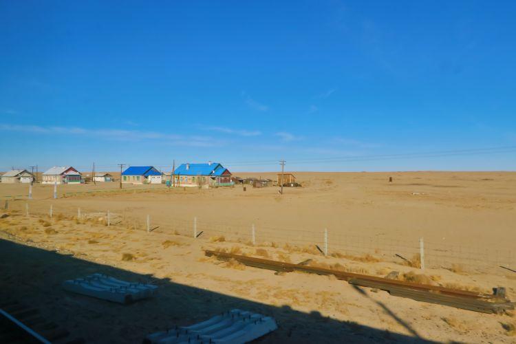 Dorf in der Wüste Gobi