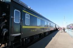 Chinesischer Zug am Bahnsteig