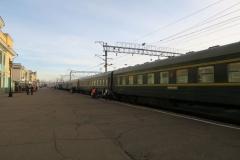 Alter Chinesischer Zug im Bahnhof