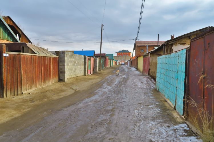 Strasse in Jurtenviertel