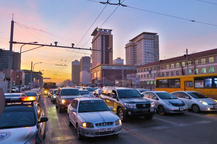 Verkehr Abends