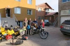Motorrad-Reisende