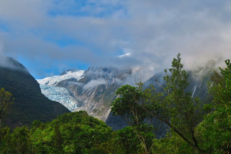Franz Josef Gletscher - Blick vom Parkplatz