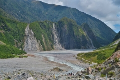 Fox Gletscher - Blick ins Tal