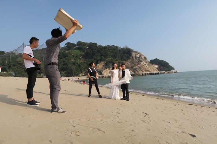 Insel Gulangyu-Hochzeits-Fotoshooting