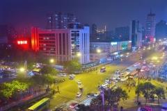 Blick aus unserem Fenster bei Nacht