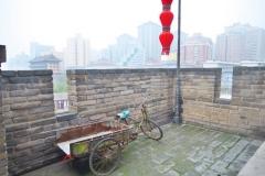 Rikscha auf der Stadtmauer
