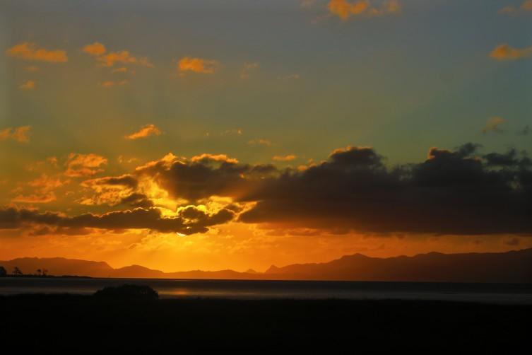 Sonnenuntergang Ambury Campsite